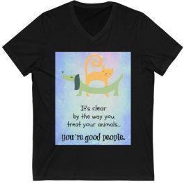 T-shirt: Black V-Neck (any design)