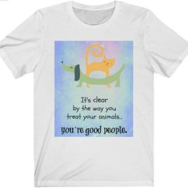 T-shirt: White crewneck (any design)